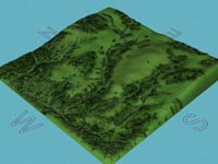 3d Interactive Relief Map of Mellor Iron Age Settlement